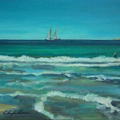 Dream, acrylique sur toile de Nath Chipilova